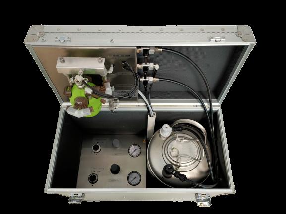 Serbatoio prodotto e controllo pressione aria/acqua