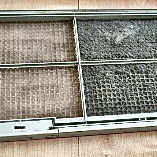 Heater filter before and after sanitation