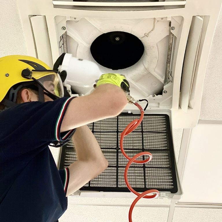 Sanitation of the air conditioner